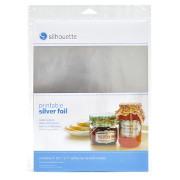 "Silhouette Printable Silver Foil 8.5"" X 11"""