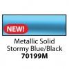 Friendly Plastic - Metallic Solid Stormy Blue/Black
