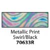 Friendly Plastic - Metallic Print Swirl/Black