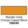 Friendly Plastic - Metallic Solid Orange Copper/Black
