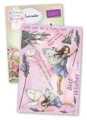 Crafter's Companion - Flower Fairies Rubber Stamp - Lavender