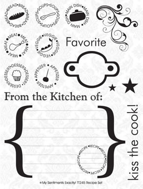 MSE Clear Stamp - Recipe Set