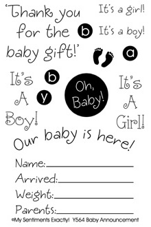 MSE Clear Stamp - Baby Announcement