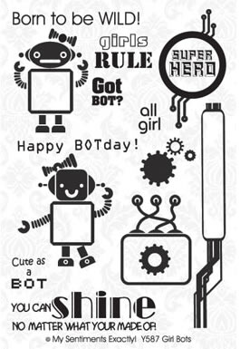 MSE Clear Stamp - Girl Bots