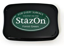 Tsukineko StazOn Ink Pad - Forest Green