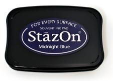 Tsukineko StazOn Ink Pad - Midnight Blue