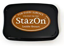 Tsukineko StazOn Ink Pad - Saddle Brown