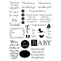 MSE Clear Stamp - Baby Sentiments