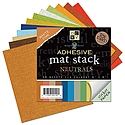 DCWV - Adhesive Backed Mat Stack - Neutrals 6X6
