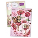 Crafter's Companion - Flower Fairies Rubber Stamp - Zinnia