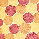 DCWV Patterned Paper - Blooms Orange with Glitter