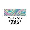 Friendly Plastic - Metallic Print Swirl/Black