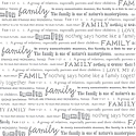 DCWV Patterned Paper - Family (Embossed White)