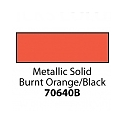 Friendly Plastic - Metallic Solid Burnt Orange/Black