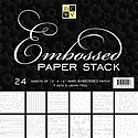 DCWV - Embossed Paper Stack 12X12