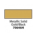 Friendly Plastic - Metallic Solid Gold/Black