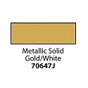 Friendly Plastic - Metallic Solid Gold/White