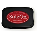 Tsukineko StazOn Ink Pad - Blazing Red