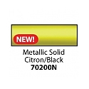 Friendly Plastic - Metallic Solid Citron/Black Stick
