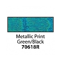 Friendly Plastic - Metallic Print Green/Black