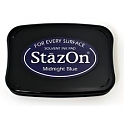 Tsukineko StazOn Ink Pad - Midnight Blue