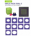CarlaCraft 100%CUT Template Cutter Set - Smile Pack Oval C