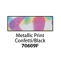 Friendly Plastic - Metallic Print Confetti/Black